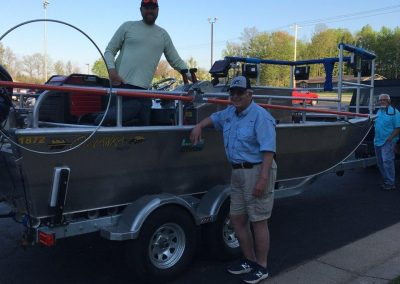 Jack Gerlach Electroshocking Boat Donation Fisheries Research