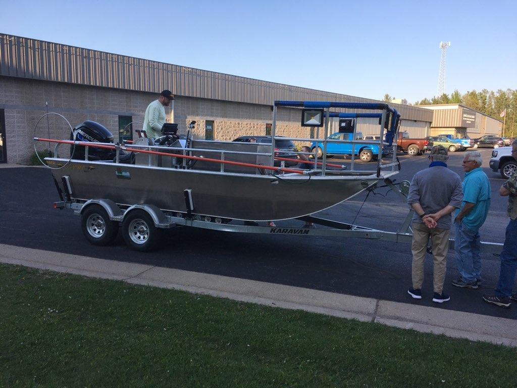 Jack Gerlach Electroshocking Boat Donation Research Fisheries