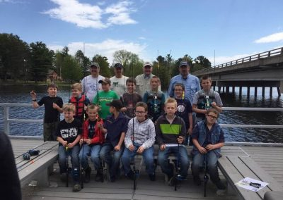 Youth Fishing Outing at Gilligans in Chetek, WI Group Photo